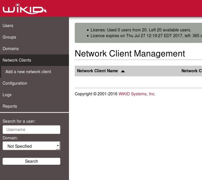 Create a radius network client for 2FA