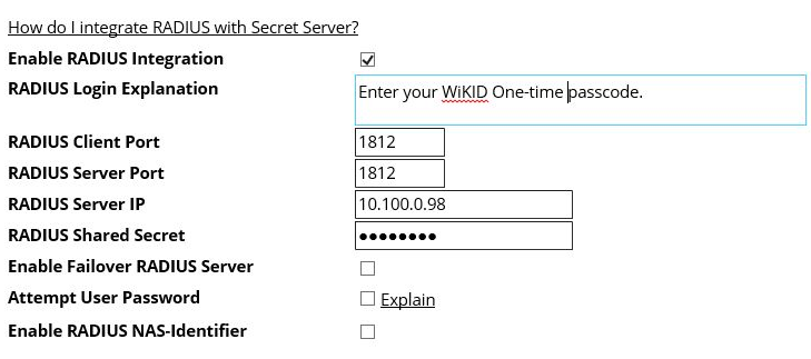 Thycotic Secret server two-factor authentication