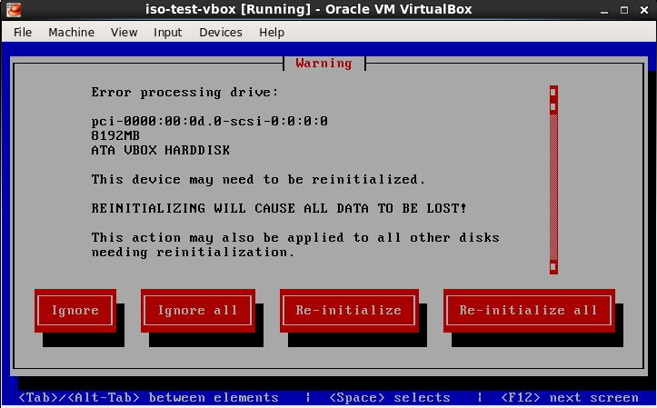 Re-initialize drives
