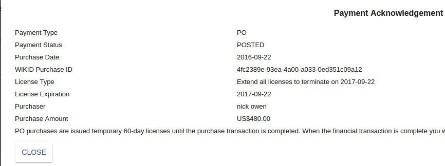 payment confirmed.