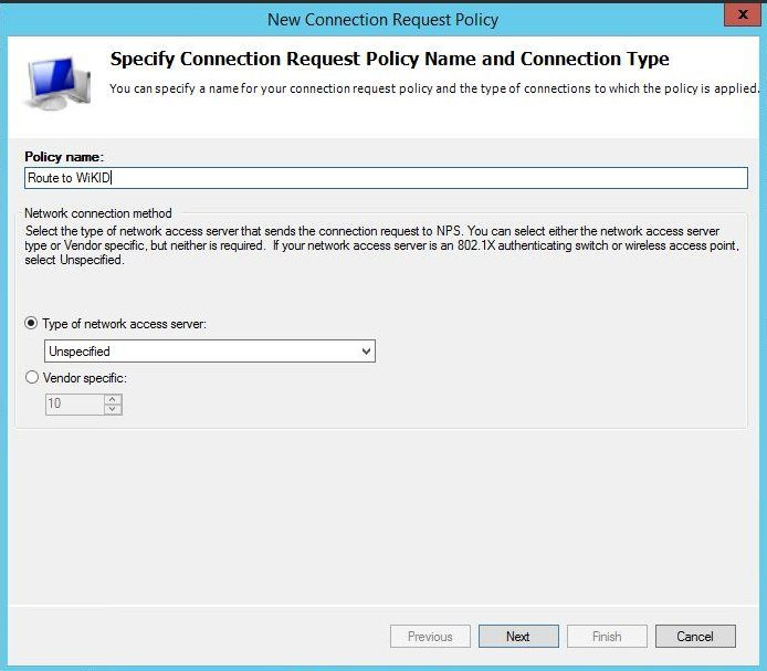 create connection request policy