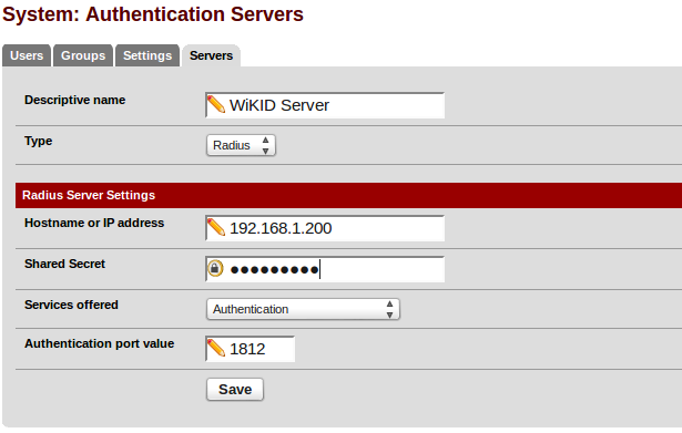 How to add WiKID Two-factor authentiction to pfSense